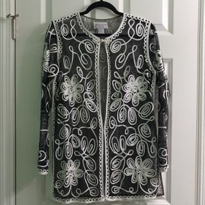 Victor Costa Occasion Sheer Topper, Looks Like New